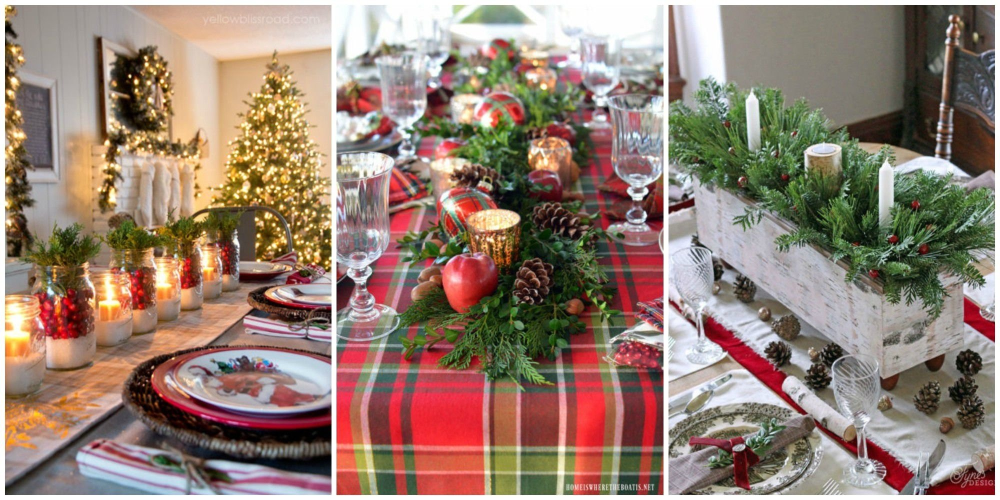 10 attractive christmas table settings ideas pictures
