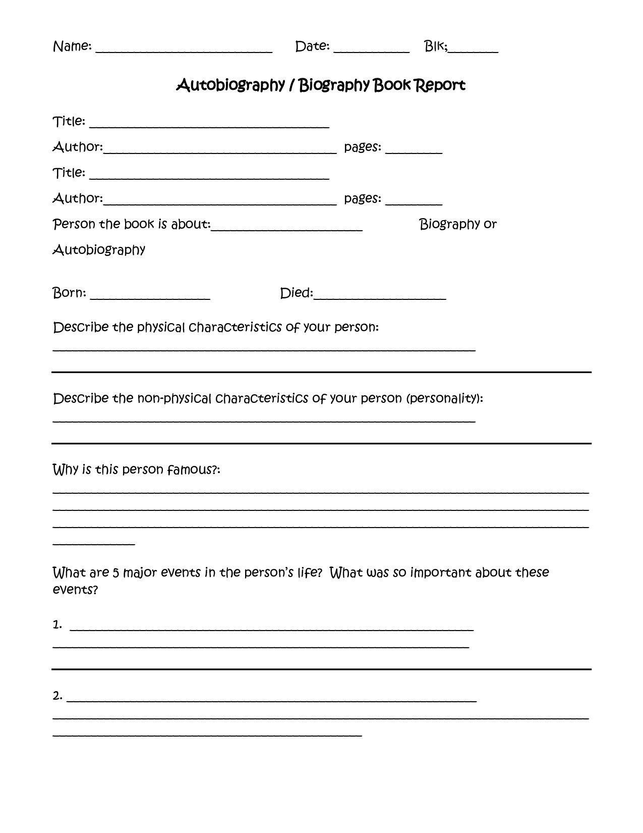 10 Stylish 4Th Grade Book Report Ideas 4th grade book report template best templates ideas 2021