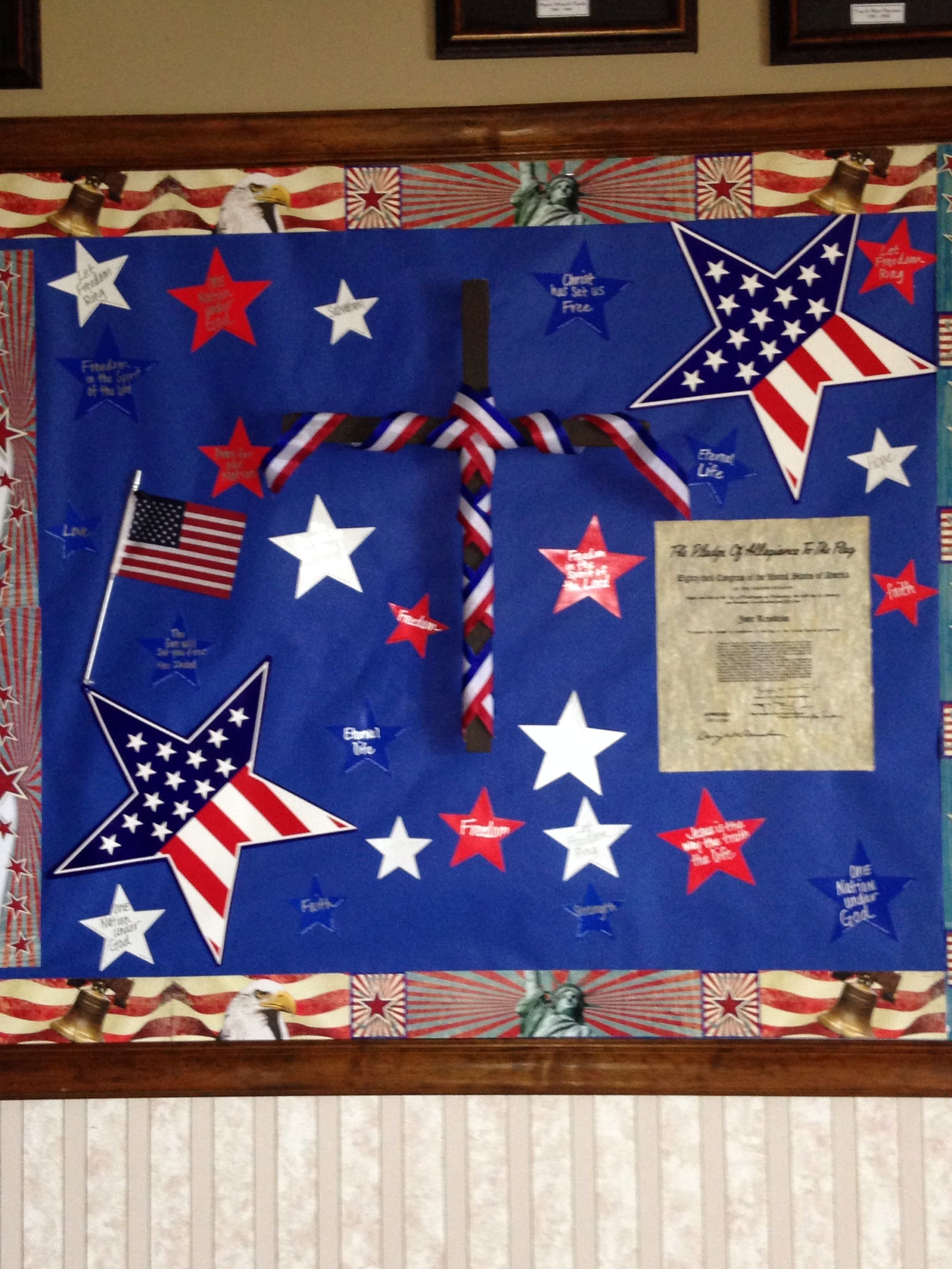 10 Fantastic 4Th Of July Bulletin Board Ideas 4th of july bulletin board church bulletin board pinterest