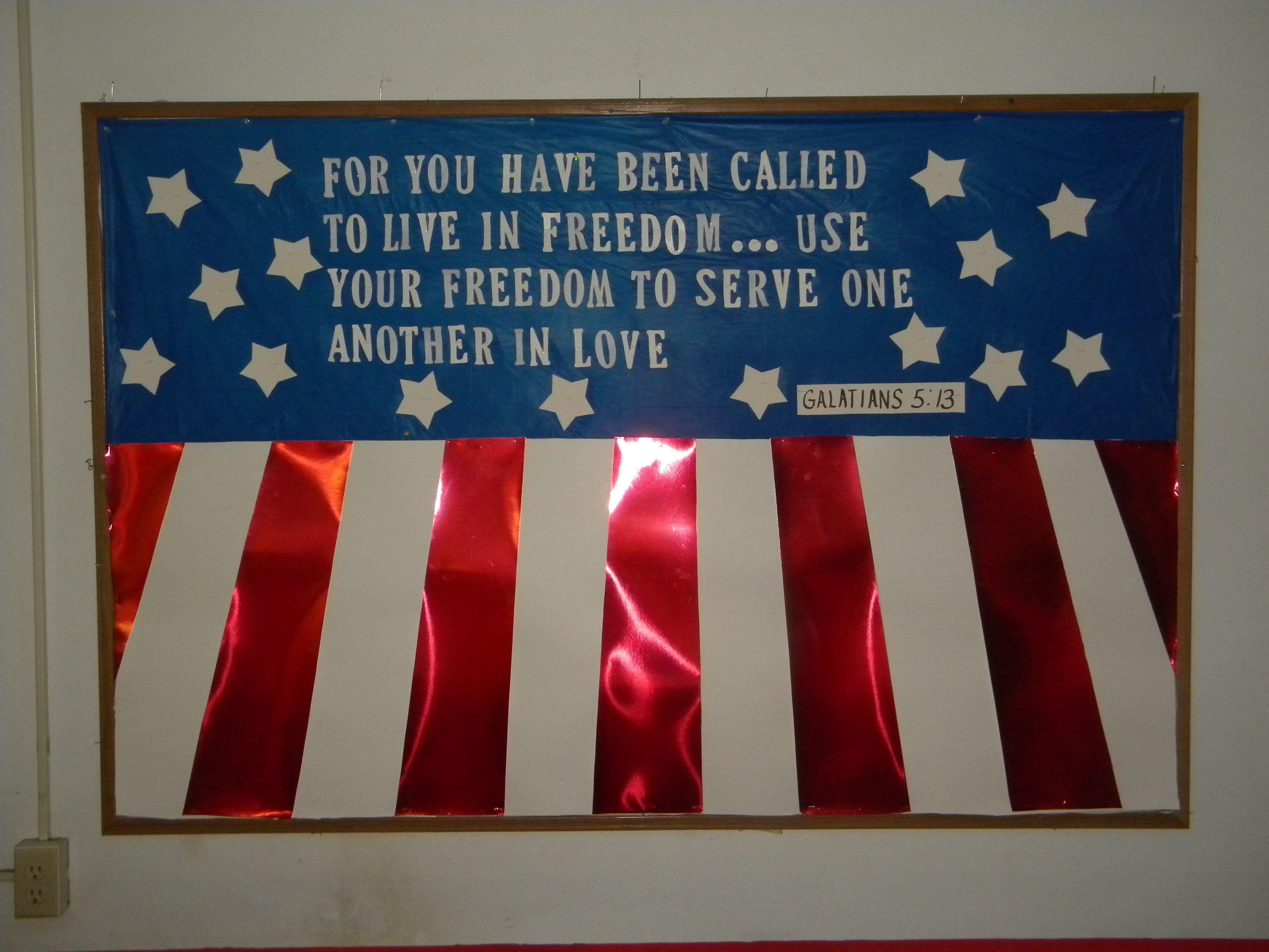10 Stylish Fourth Of July Bulletin Board Ideas 4th of july bulletin board for fcc bulletin boards patriotic 1 2021