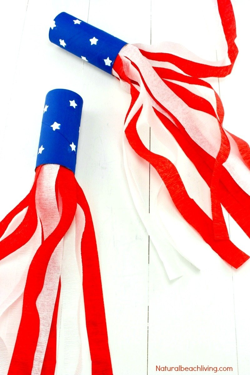 4th of july craft idea patriotic kids blower - natural beach living