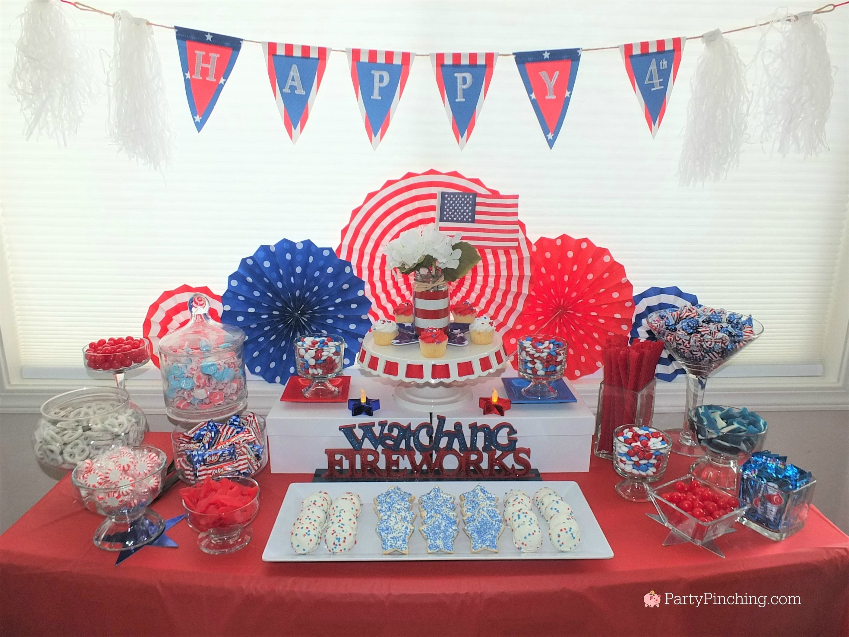 10 Beautiful Red White And Blue Party Ideas 4th of july dessert ideas easy patriotic candy buffet red white 2020