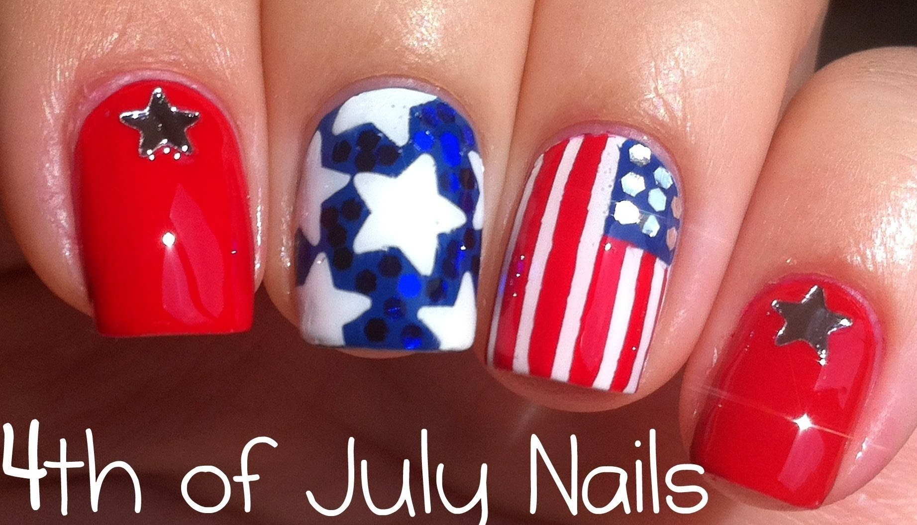 10 Awesome Fourth Of July Nail Art Ideas 4th of july nail art tutorial youtube