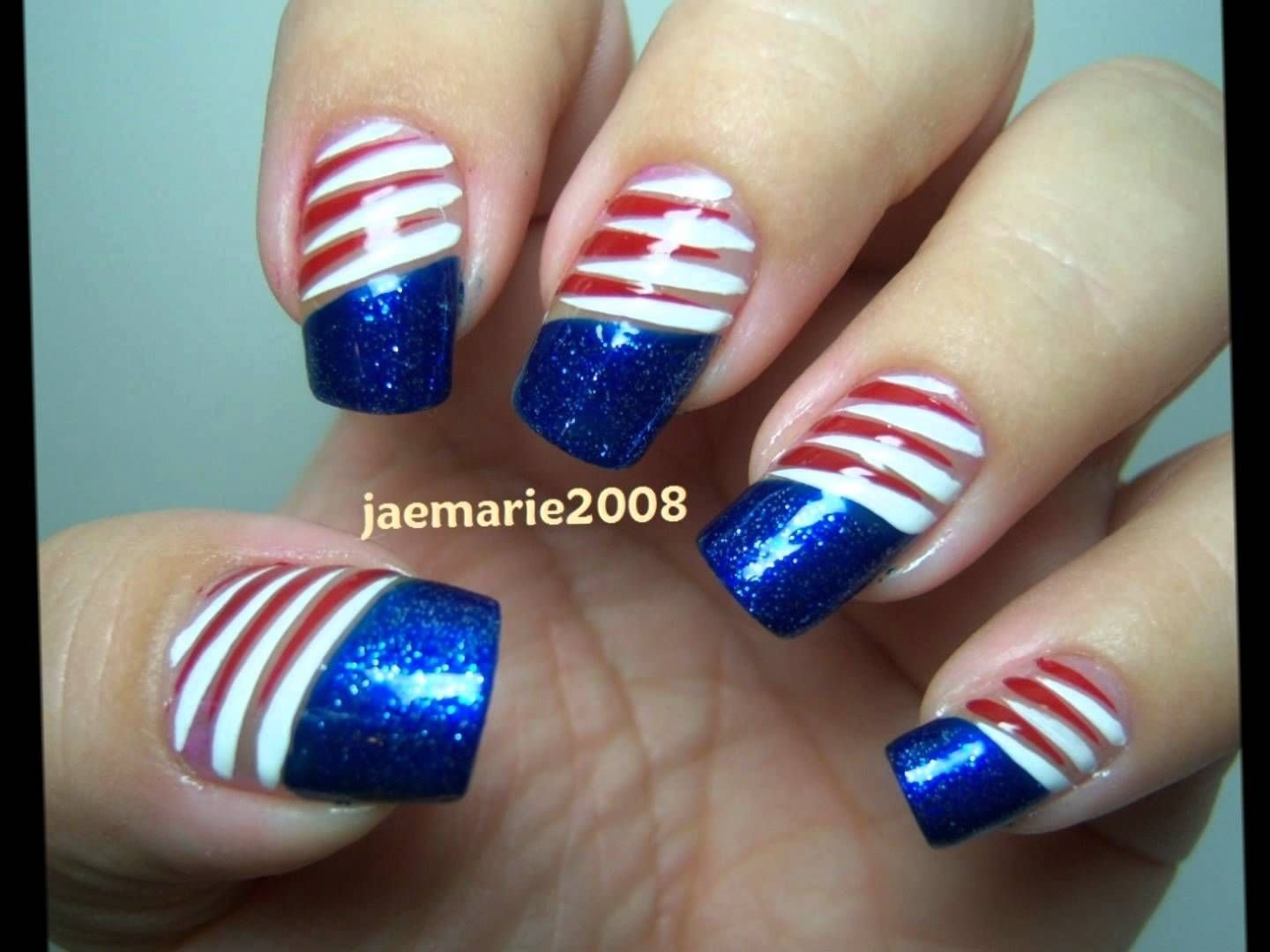 10 Awesome Fourth Of July Nail Art Ideas 4th of july nail designs ideas nail art pinterest acrylic nail 1