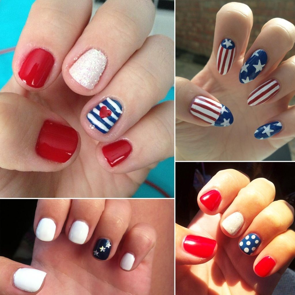 10 Awesome Fourth Of July Nail Art Ideas 4th of july nail designs popsugar beauty 2