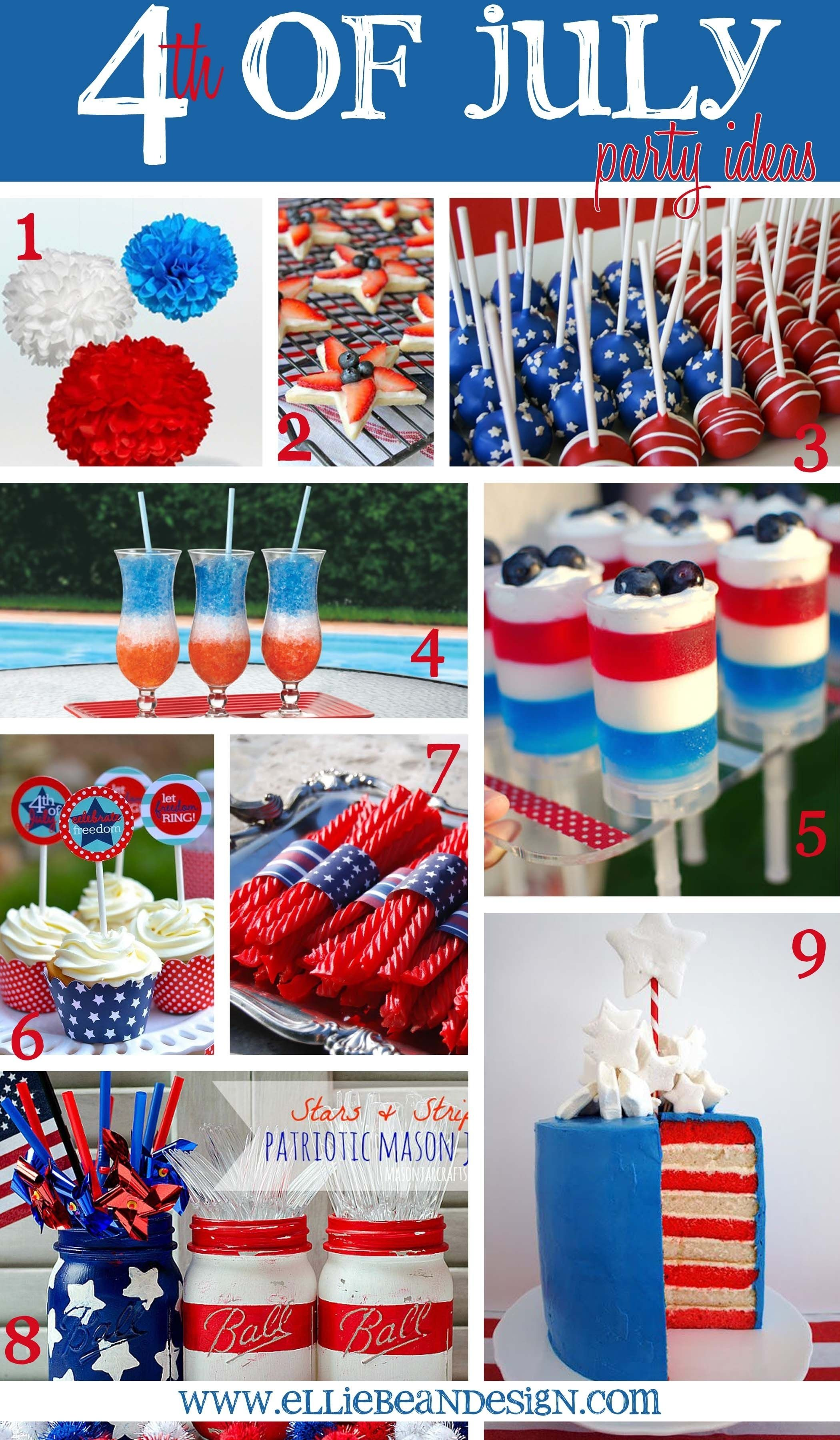 4th of july party ideas www.elliebeandesign | holidays
