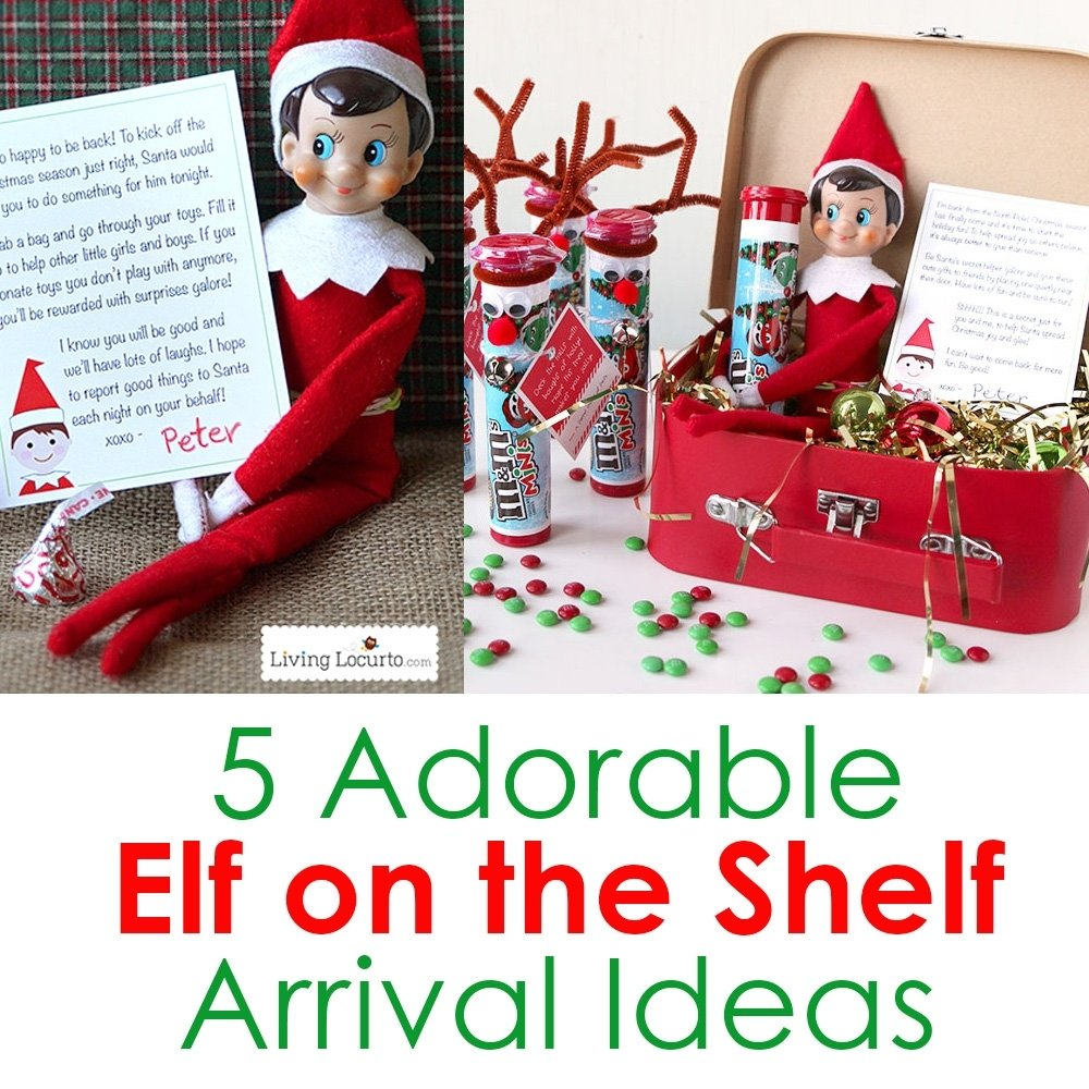 5 adorable elf on the shelf arrival ideas | christmas elf printables