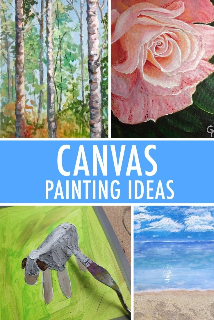 10 Wonderful Ideas On What To Paint 5 canvas painting ideas for inspiration 1