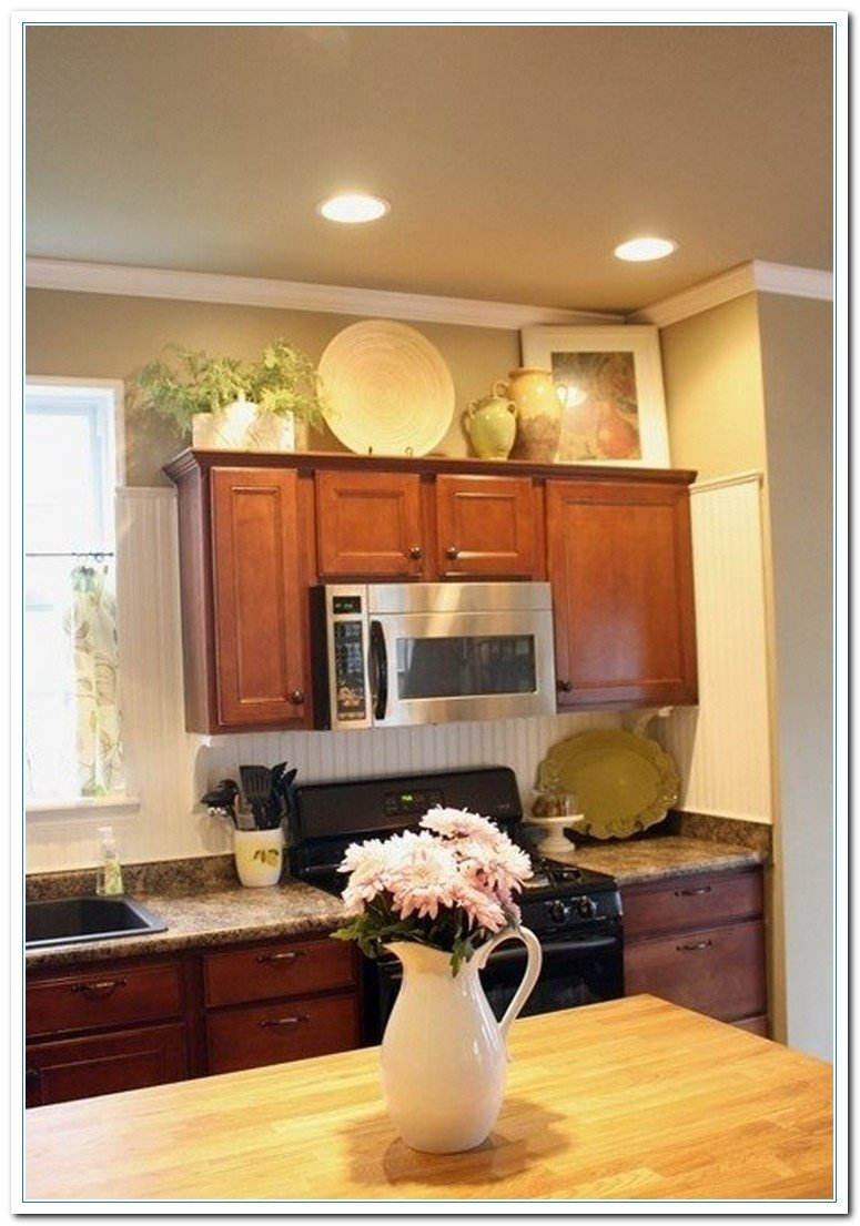 10 Fabulous Ideas For Above Kitchen Cabinets 5 charming ideas for above kitchen cabinet decor home designs for 1 2020