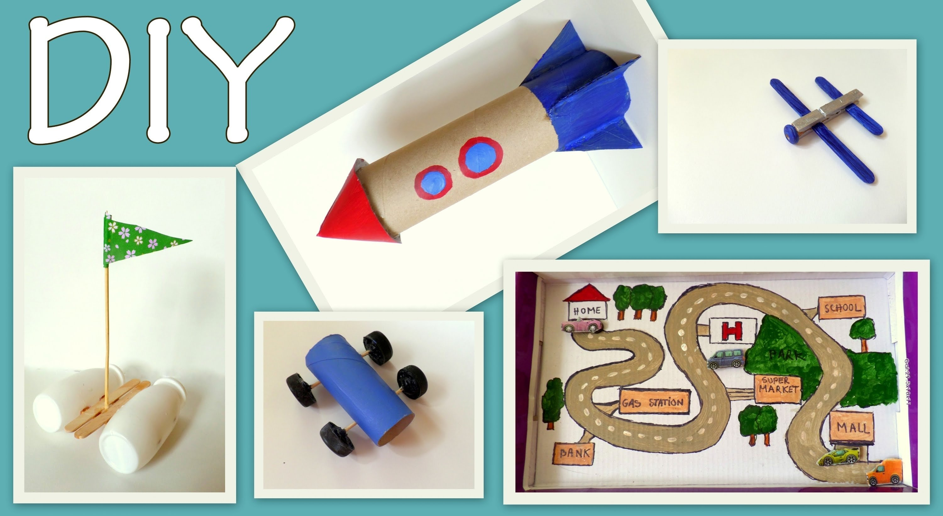 5 craft ideas for kids ( boys edition) -diy- fun and easy |