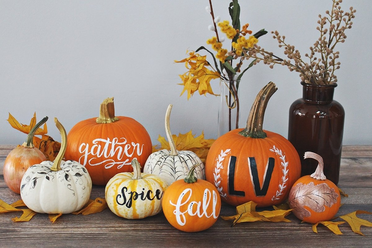 10 Fashionable Creative Pumpkin Ideas No Carving 5 creative ideas for painting elegant pumpkins lily val living 2020