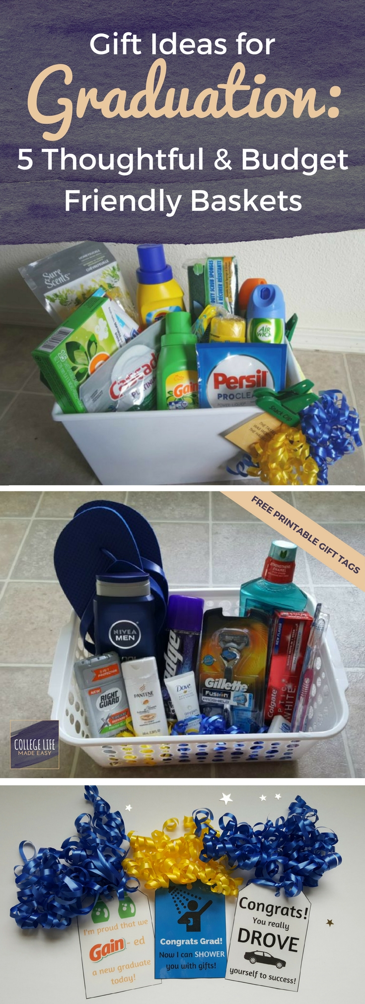 10 Ideal Graduation Gift Ideas For High School Seniors 5 diy going away to college gift basket ideas for boys college 2 2020