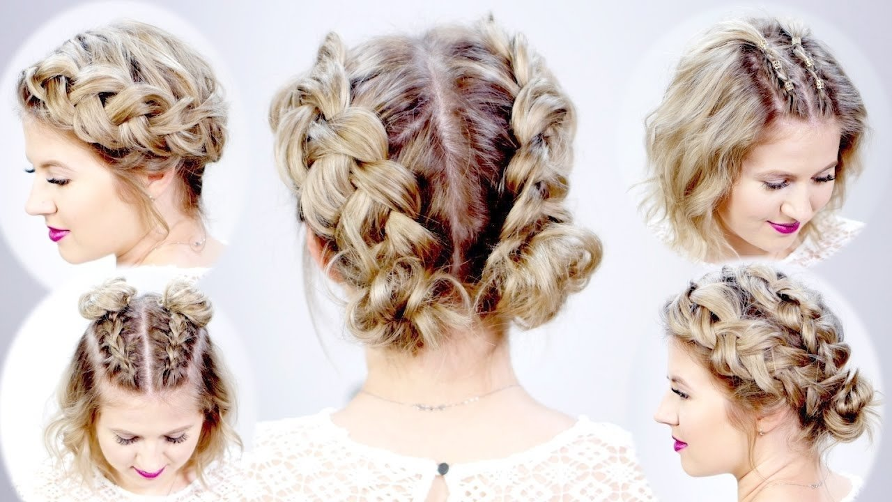 5 double dutch braided hairstyles for short hair | milabu - youtube