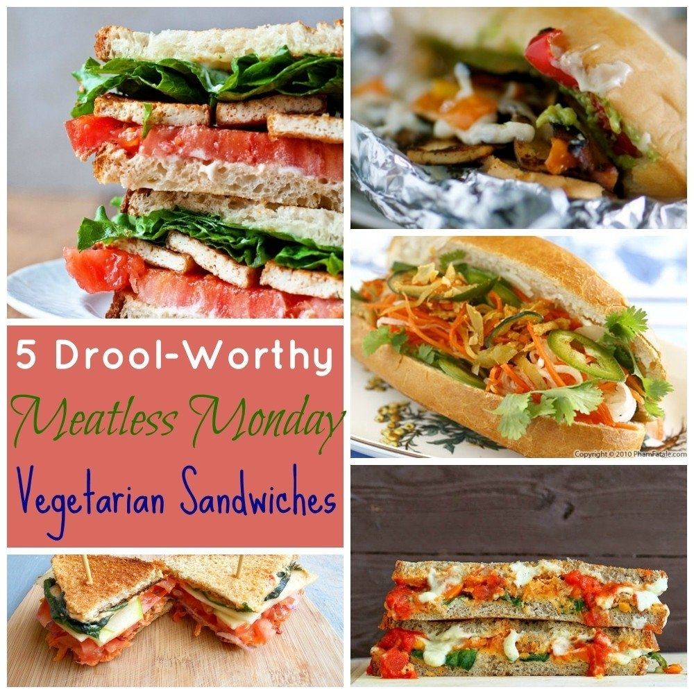 5 drool-worthy meatless monday vegetarian sandwiches - healing