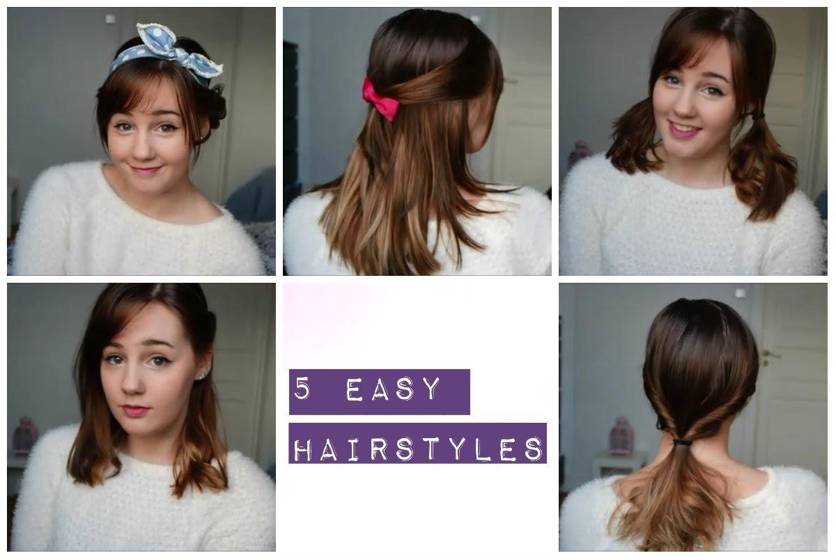 10 Fantastic Cute Hair Ideas For Medium Hair 5 easy and cute hairstyles medium length hair youtube 2020