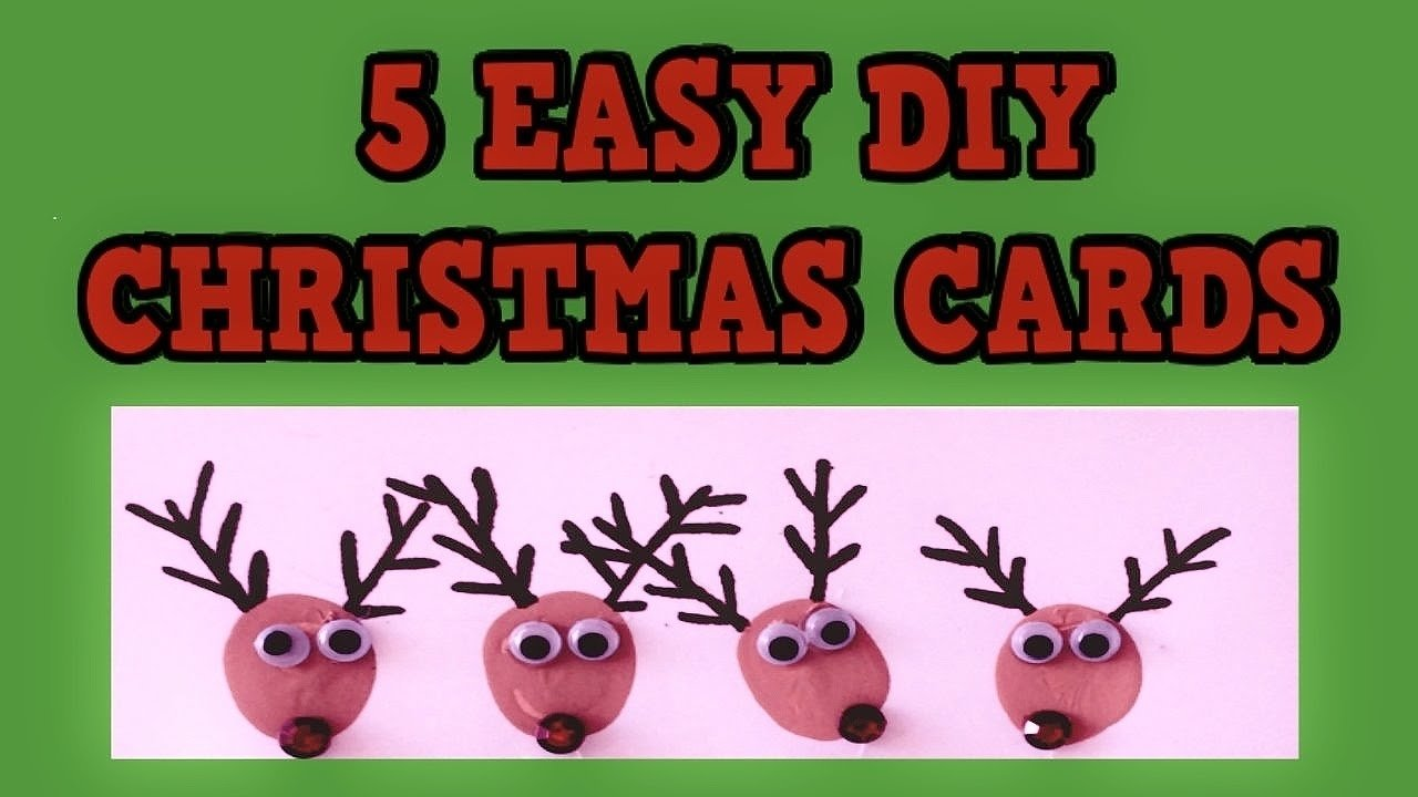 10 Fantastic Picture Ideas For Christmas Cards 5 easy diy christmas cards 2015 easy tutorial card ideas diy