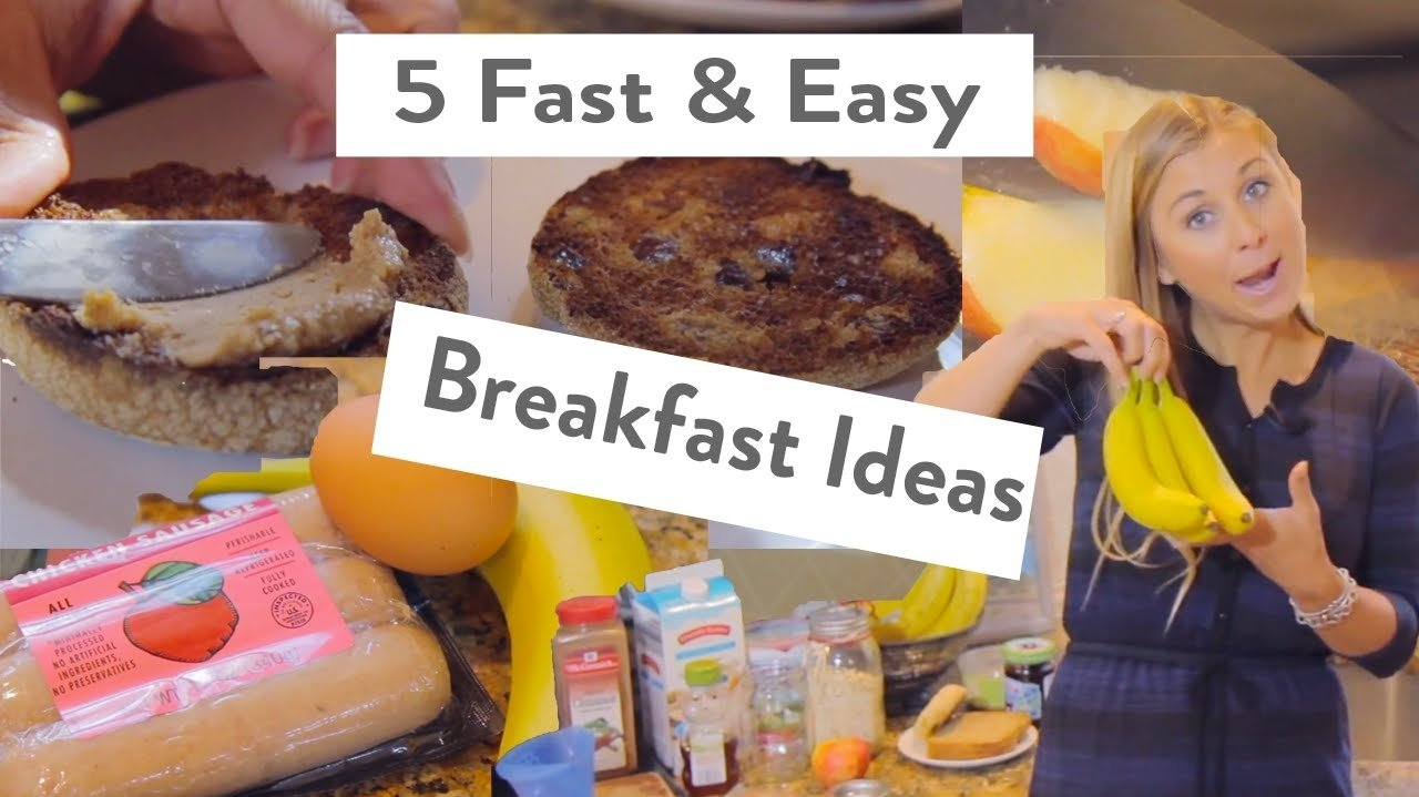 5 easy & fast breakfast ideas for school or work - youtube