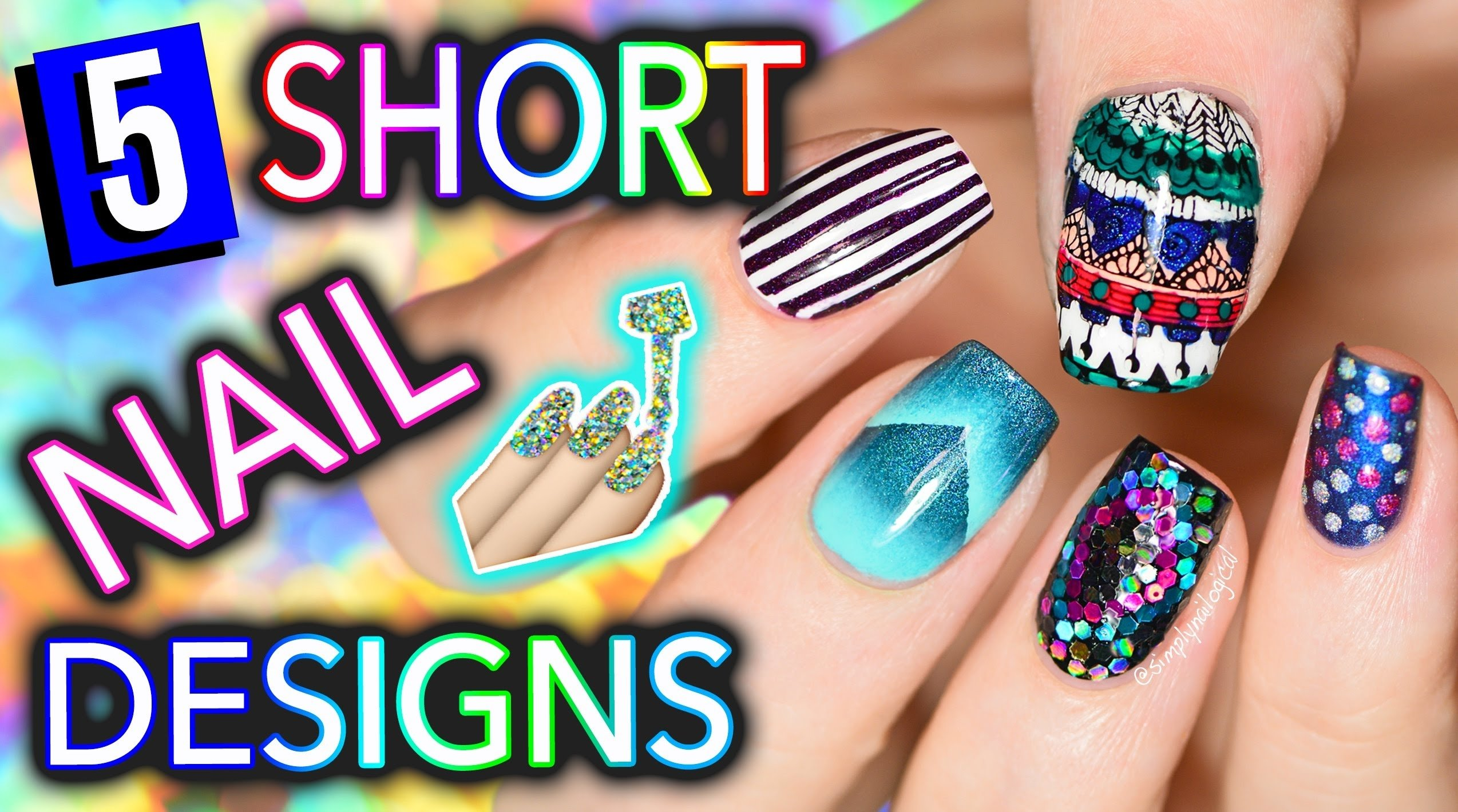 10 Attractive Easy Nail Ideas For Short Nails 5 easy nail art designs for short nails holosexuals part 1 1 2020