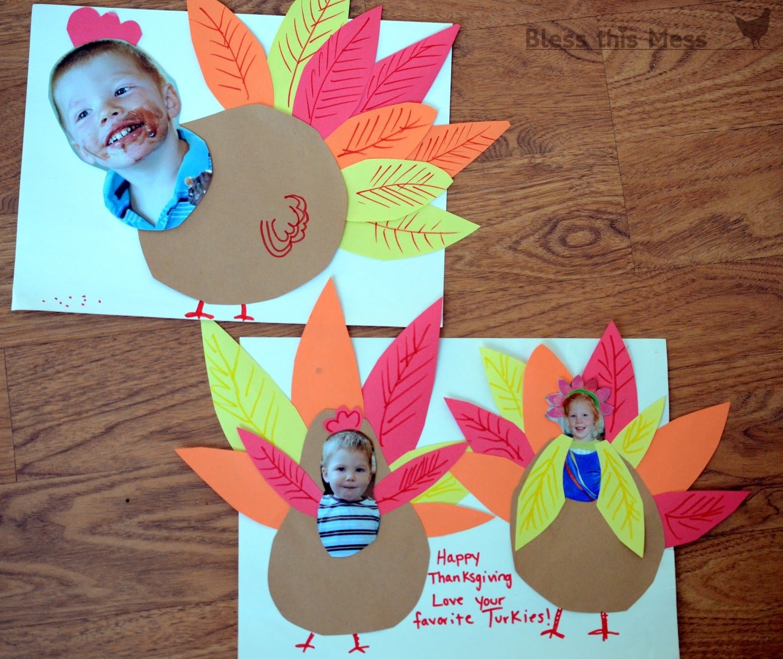 10 Best Thanksgiving Craft Ideas For Preschoolers 5 easy turkey crafts for kids bless this mess 1 2020