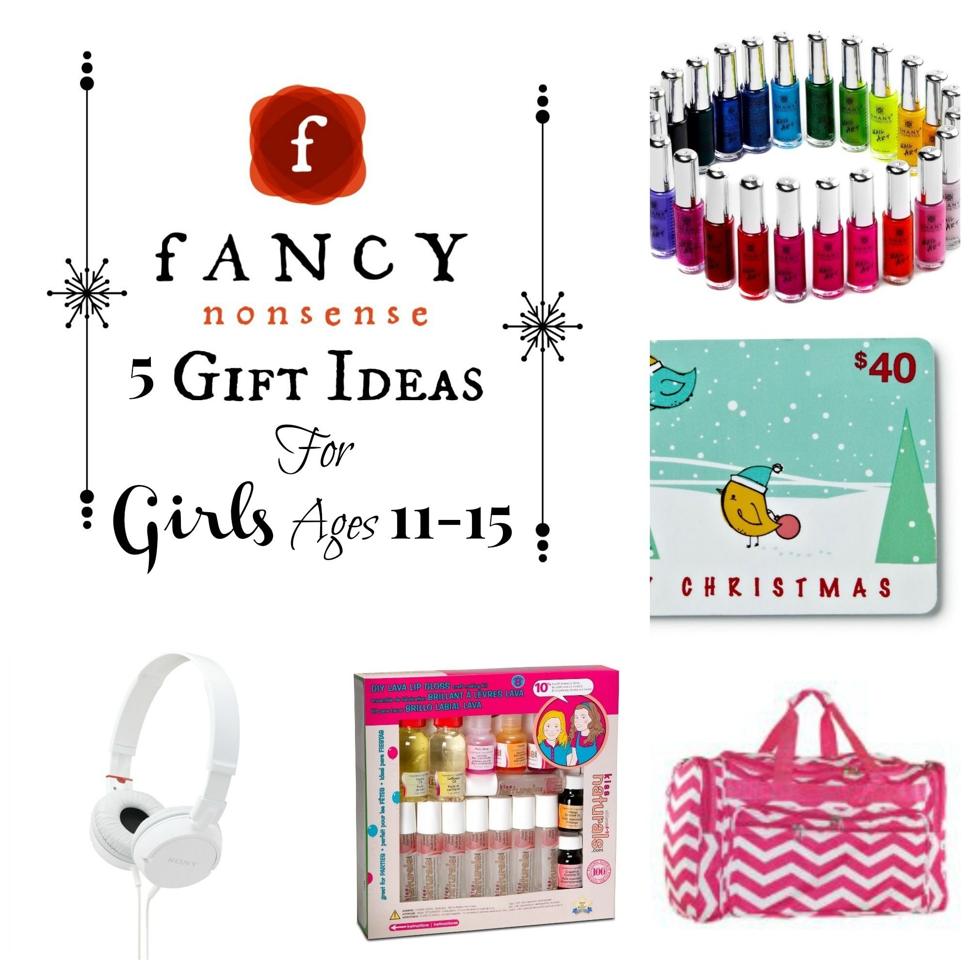 10 Famous Gift Ideas For 15 Yr Old Girl 5 gift ideas for girls ages 11 15 from fancy nonsense gifts for