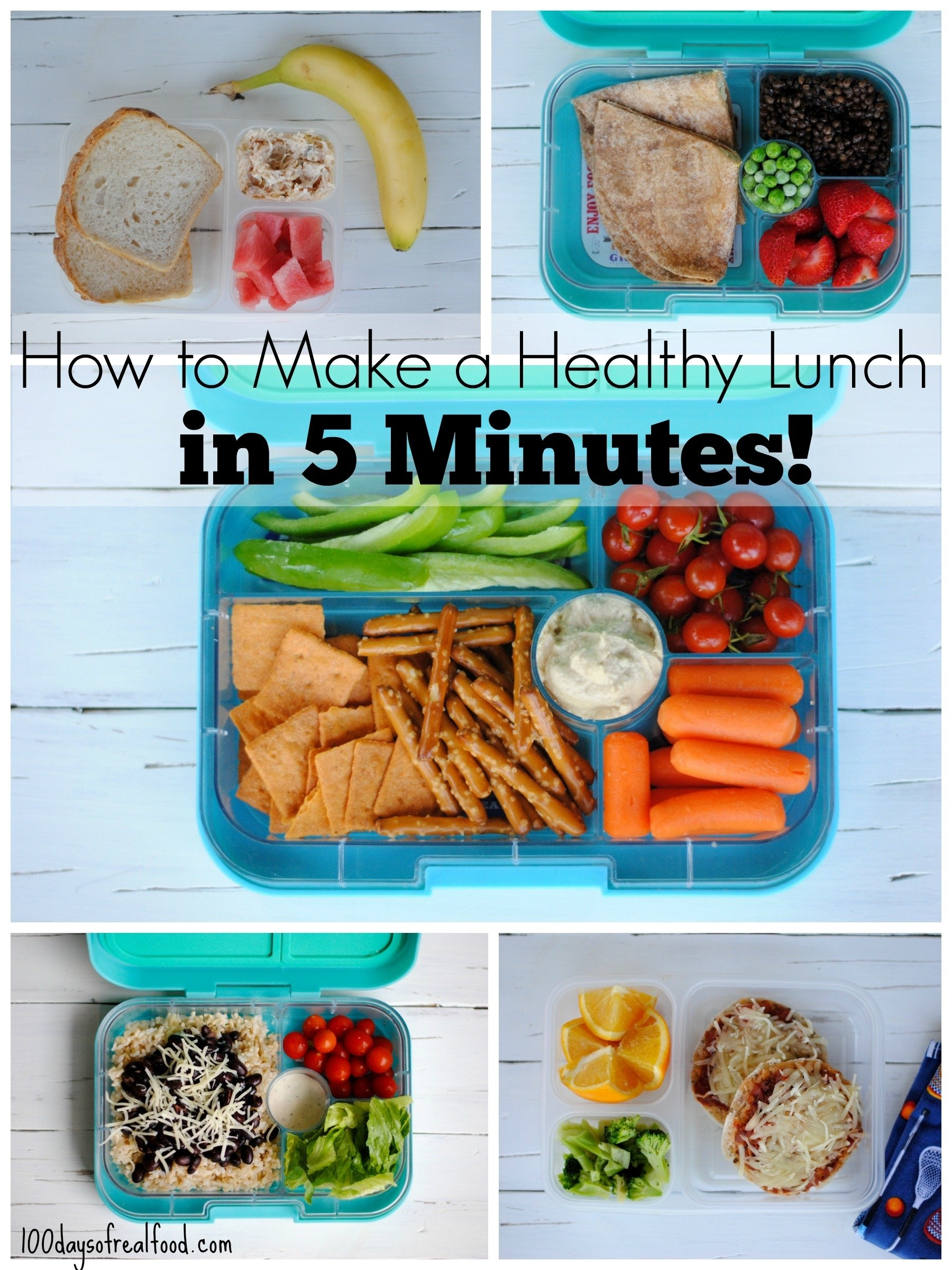 10 Elegant Healthy Lunch Ideas To Pack 5 healthy packed lunches in 5 minutes 100 days of real food 2020