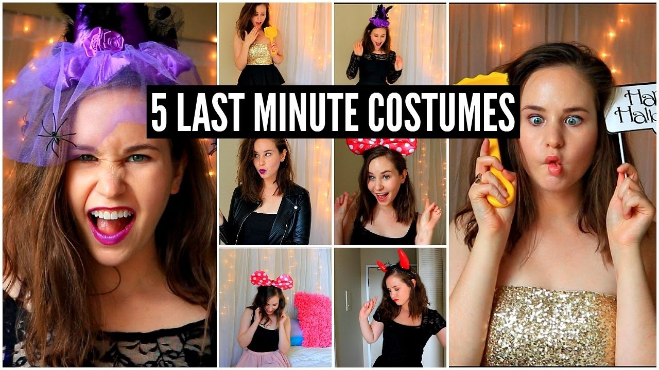10 Great Quick Costume Ideas For Women 5 last minute halloween costume ideas cheap easy youtube 2021