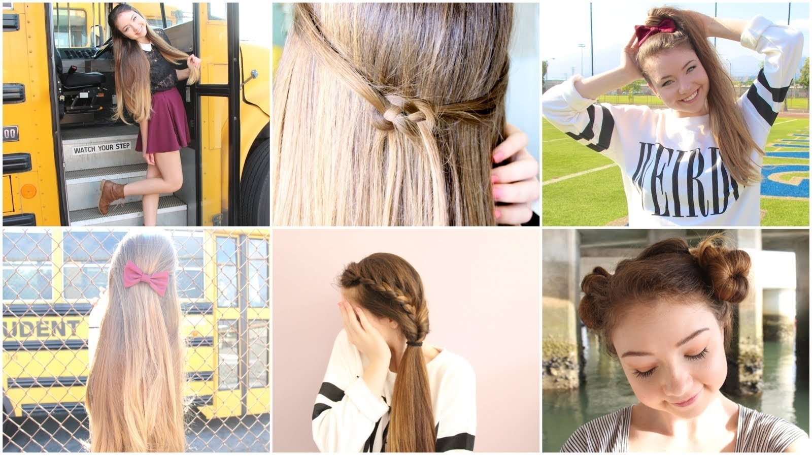 10 Unique First Day Of School Hair Ideas 5 quick n easy back to school heatless hairstyles youtube 2020