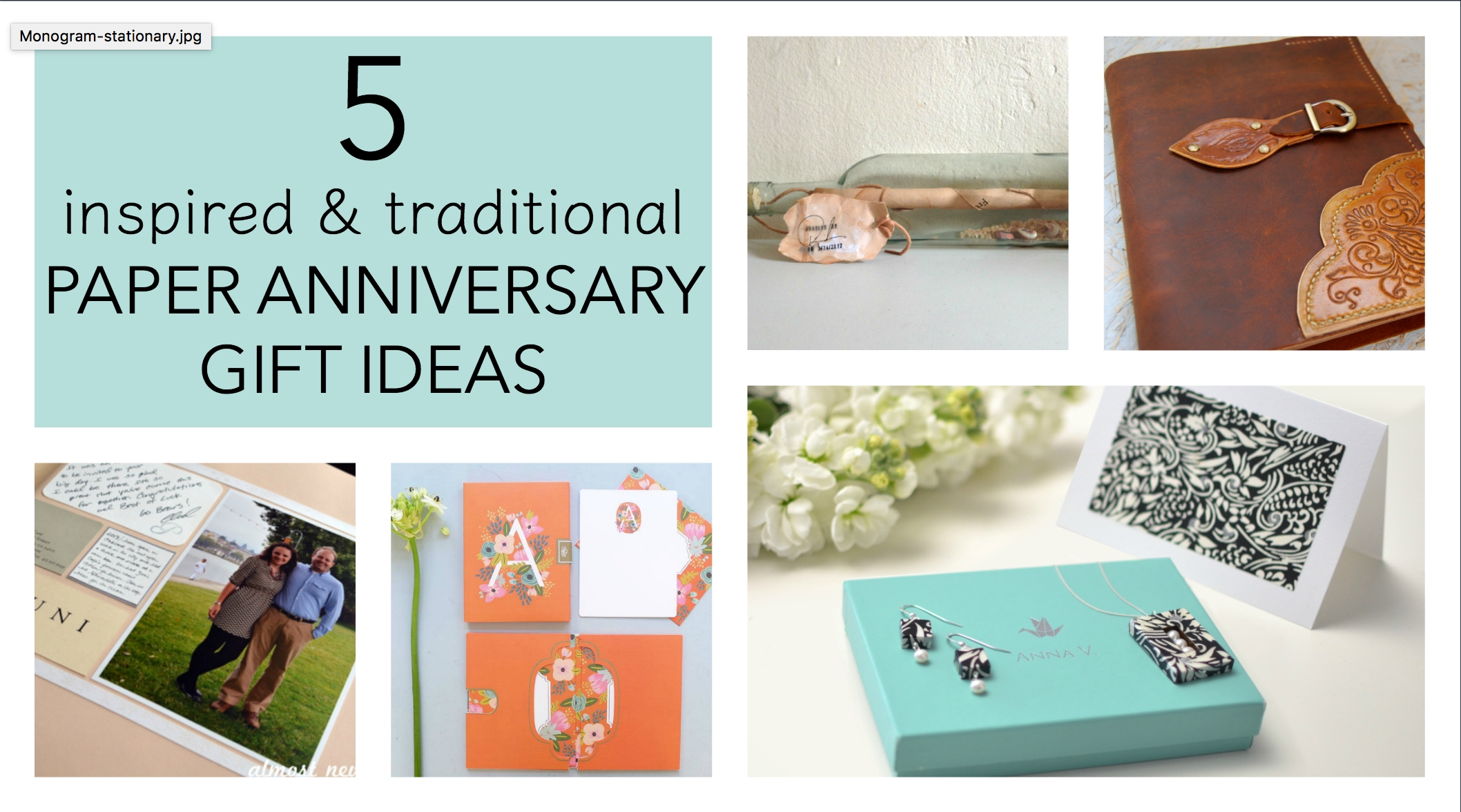 5 traditional paper anniversary gift ideas for her - paper