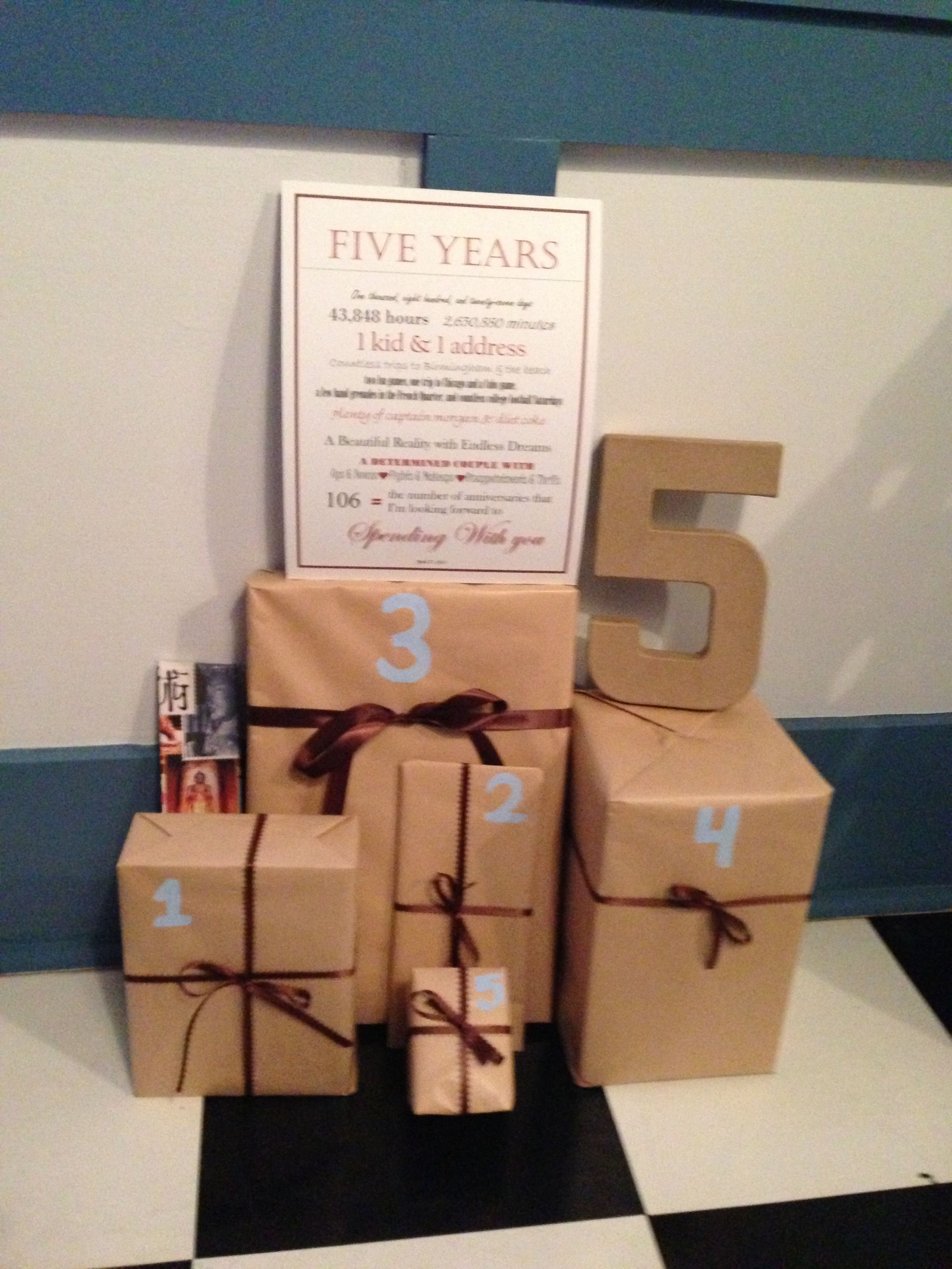 10 Stunning 5 Year Anniversary Ideas For Him 5 year anniversary 1 gift that reminds you of each year of marriage 6 2020