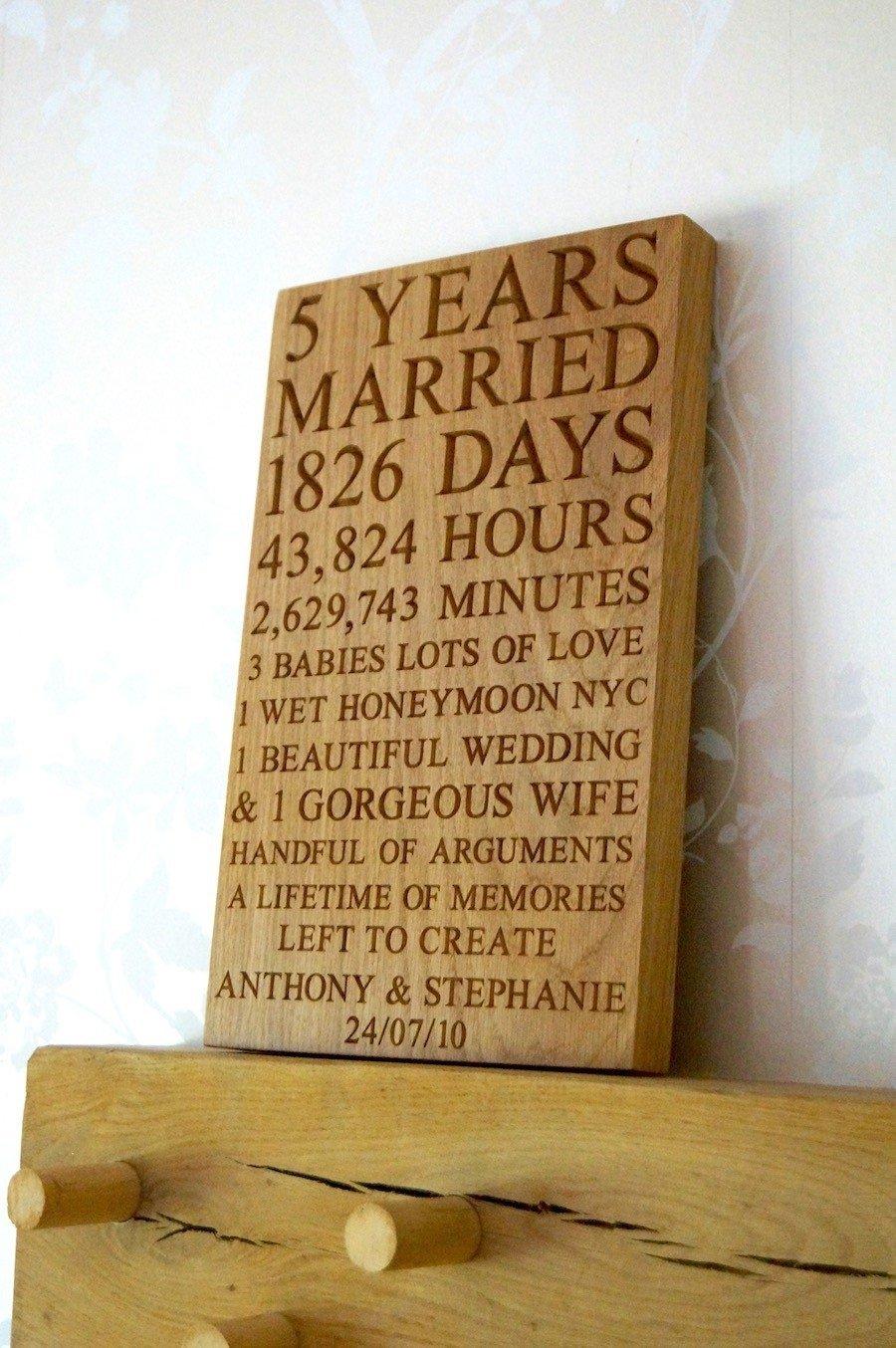 10 Pretty 5 Year Wedding Anniversary Gift Ideas 5 year wedding anniversary gift lovely wedding gift cool 5th year 2021