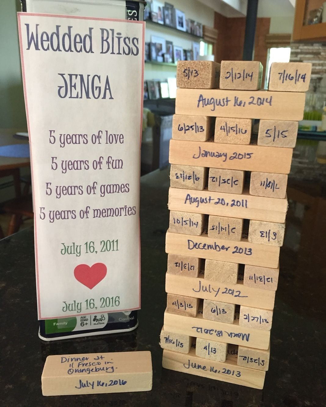 10 Gorgeous Five Year Anniversary Gift Ideas 5 year wedding anniversary love this idea gift ideas pinterest 2 2021