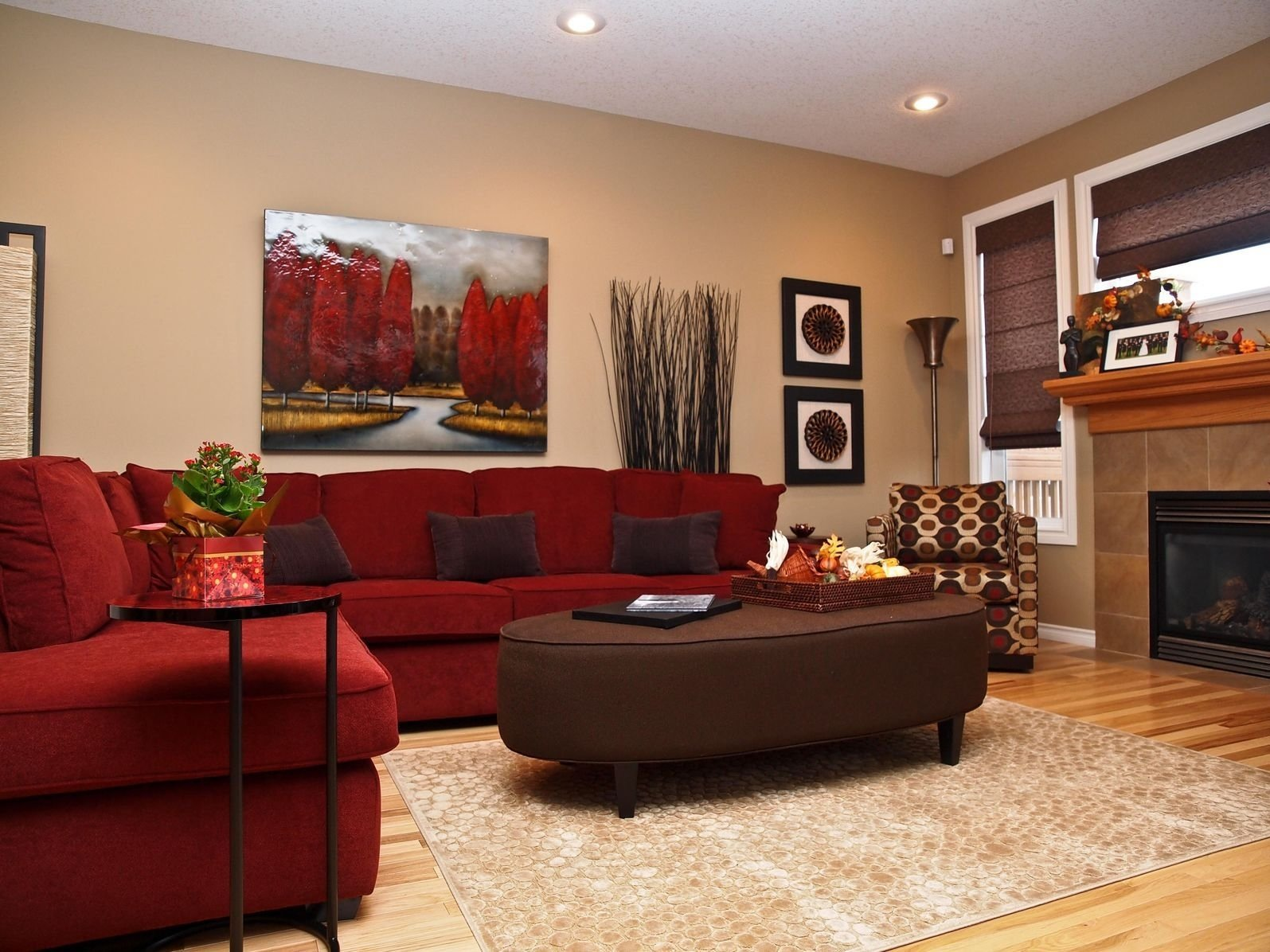 10 Best Red And Brown Living Room Ideas 50 beautiful living rooms with ottoman coffee tables oval ottoman 2020