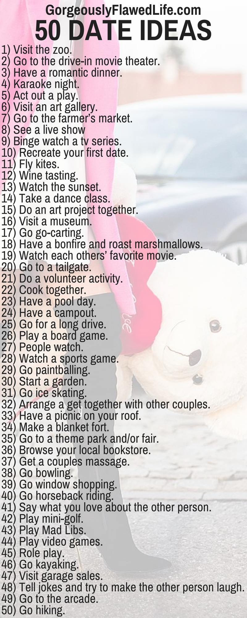 10 Famous Creative Date Ideas For Him 50 brilliant date ideas that will make your love life more exciting 14 2020