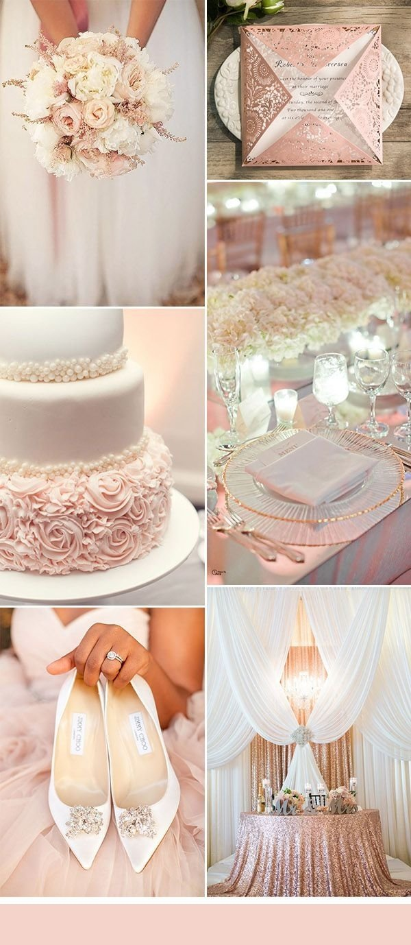 10 Stunning Pink And White Wedding Ideas 50 brilliant ideas for glamorous and bling weddings blush pink 2021