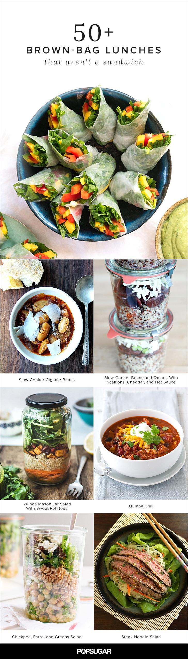 10 Lovable Vegetarian Brown Bag Lunch Ideas 50 brown bag lunches that arent a sandwich bag lunches brown 2020