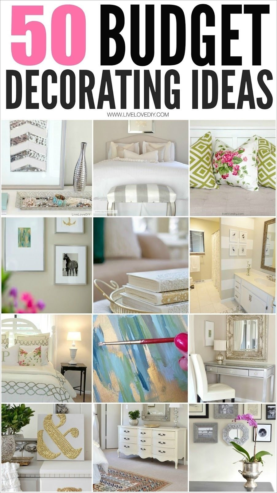50 budget decorating tips you should know! (livelovediy) | budgeting