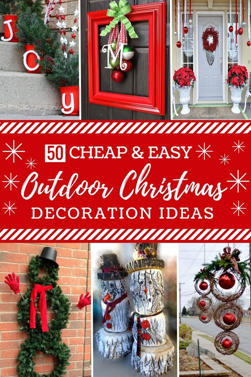 10 Ideal Diy Outdoor Christmas Decorating Ideas 50 cheap easy diy outdoor christmas decorations prudent penny 2 2021