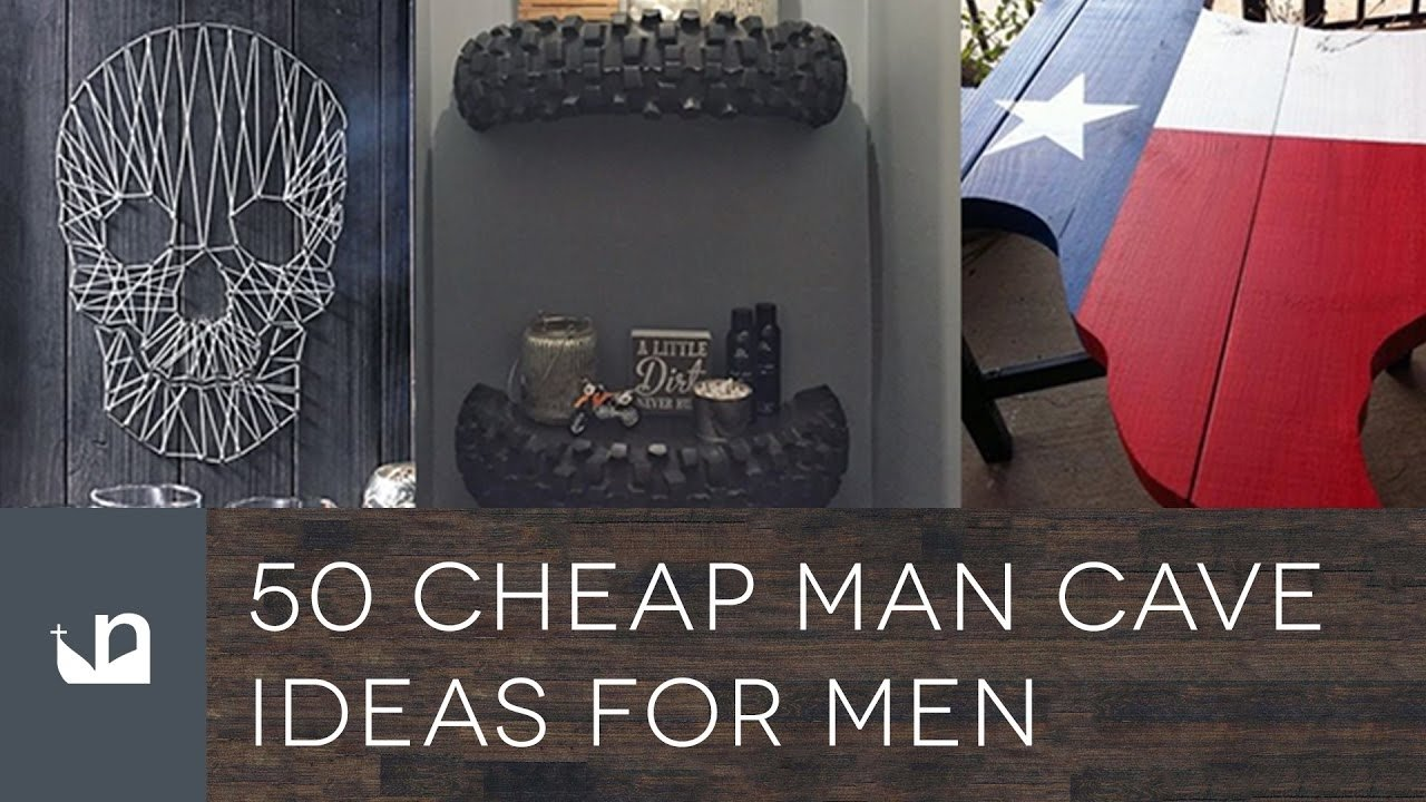 10 Pretty Man Cave Ideas On A Budget 50 cheap man cave ideas for men youtube 1 2020