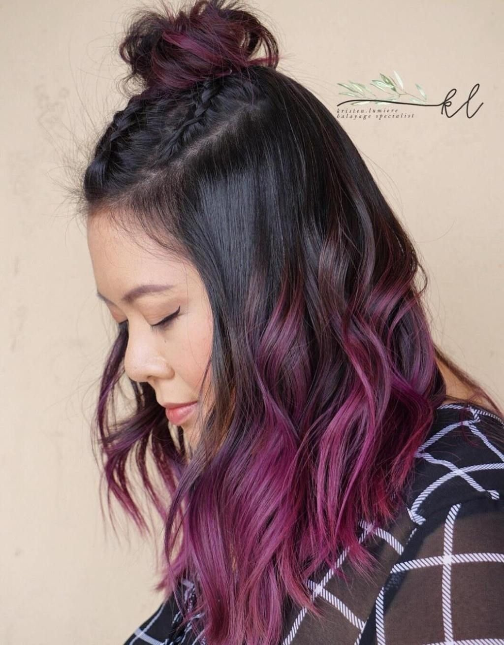 10 Unique Pink And Black Hair Ideas 50 cool ideas of lavender ombre hair and purple ombre balayage
