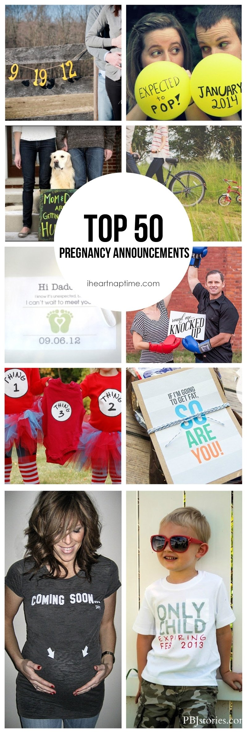 50 creative ways to announce you're pregnant! - i heart nap time
