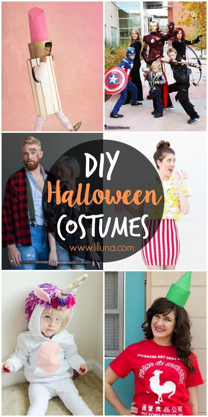 10 Cute Homemade Adult Halloween Costumes Ideas 50 diy halloween costume ideas lil luna 1