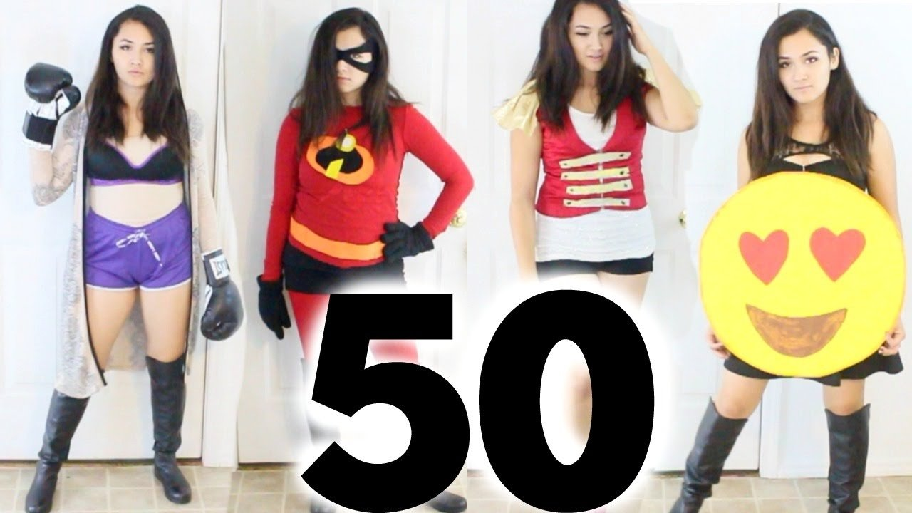 10 Cute Good Last Minute Costume Ideas 50 diy last minute costume ideas halloween youtube 1 2020