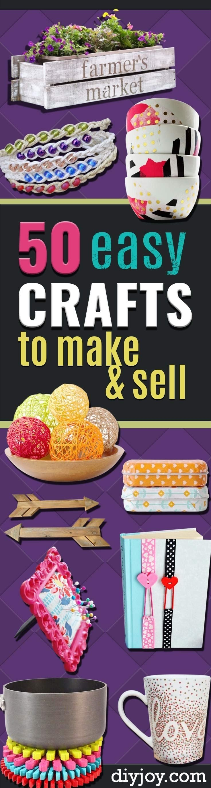 10 Perfect Ideas To Sell On Etsy 50 easy crafts to make and sell homemade crafts craft fairs and 2020