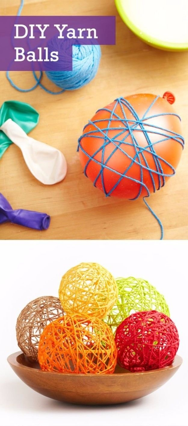 50 easy crafts to make and sell | yarn ball, homemade crafts and