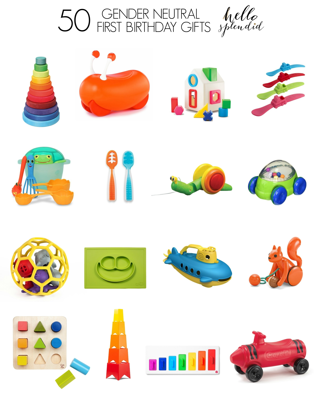 10 Spectacular 1St Birthday Gift Ideas For Boys 50 gender neutral first birthday gifts birthday gifts gender 1 2021