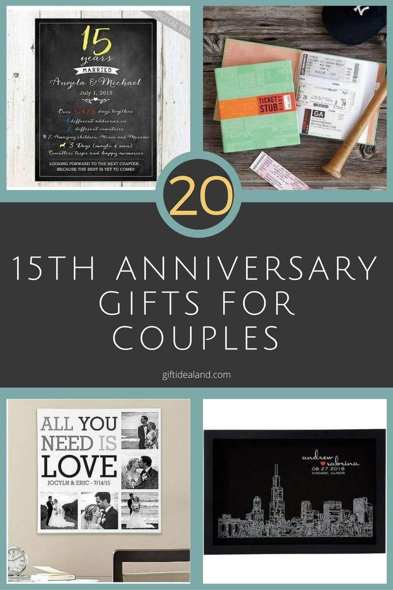 10 Cute 15Th Wedding Anniversary Gift Ideas 50 good 15th wedding anniversary gift ideas for him her 1 2020