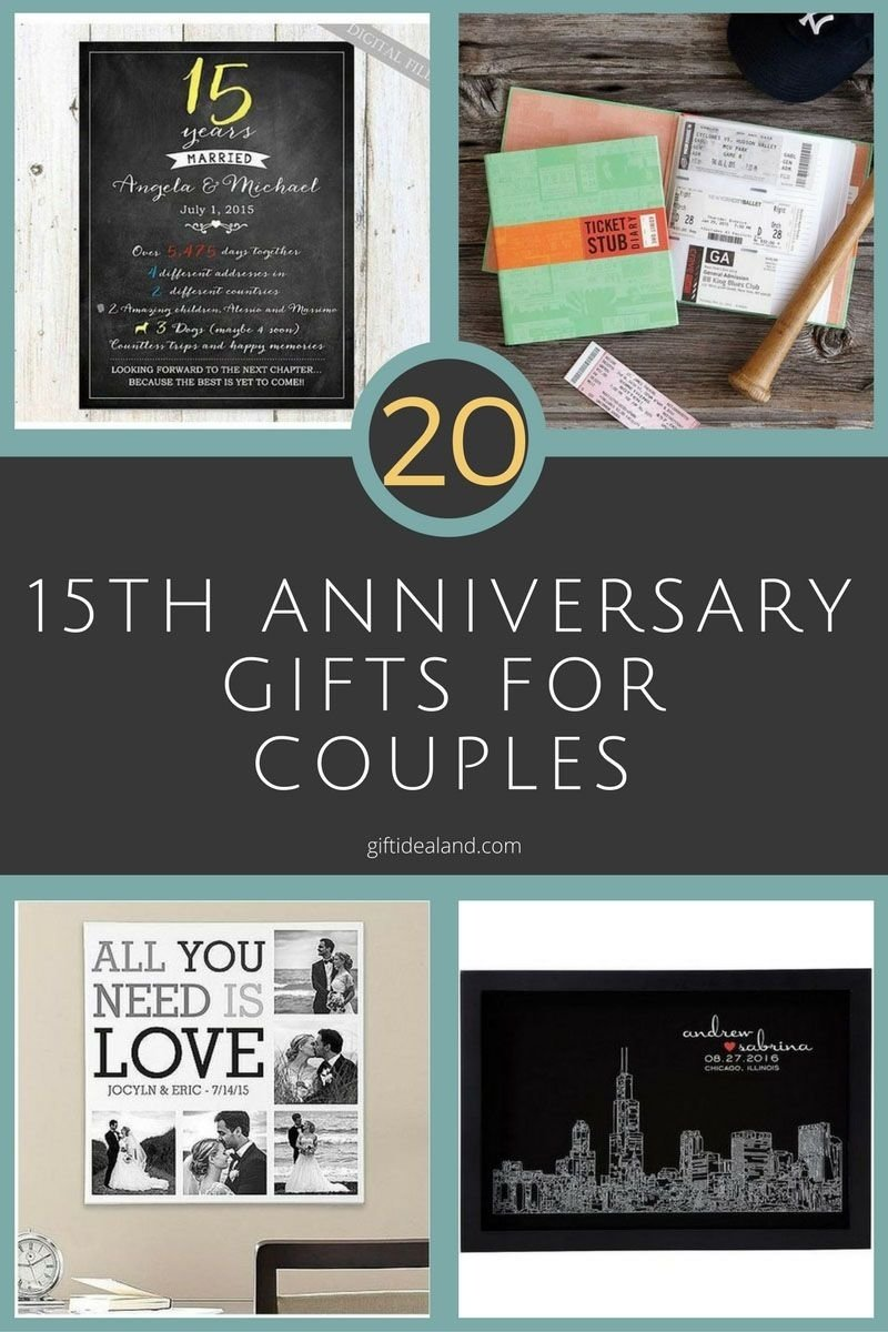 50 good 15th wedding anniversary gift ideas for him & her