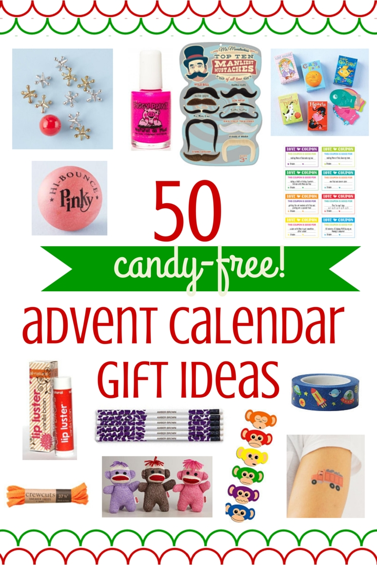 50 ideas for candy-free advent calendar gifts - savvy sassy moms