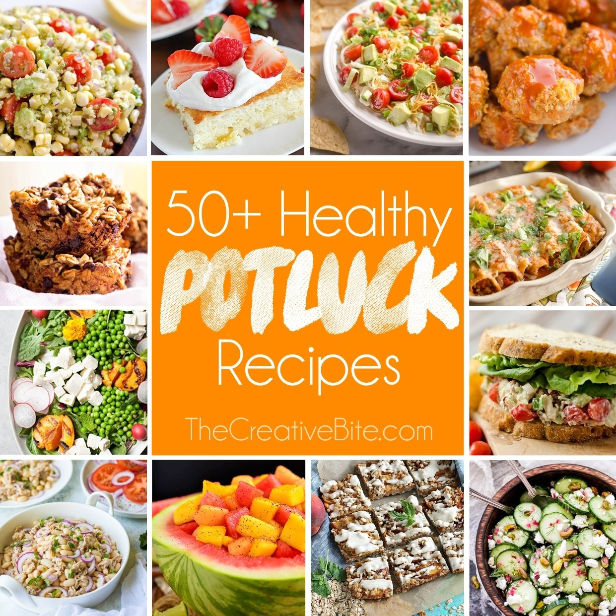 50+ light & healthy potluck recipes