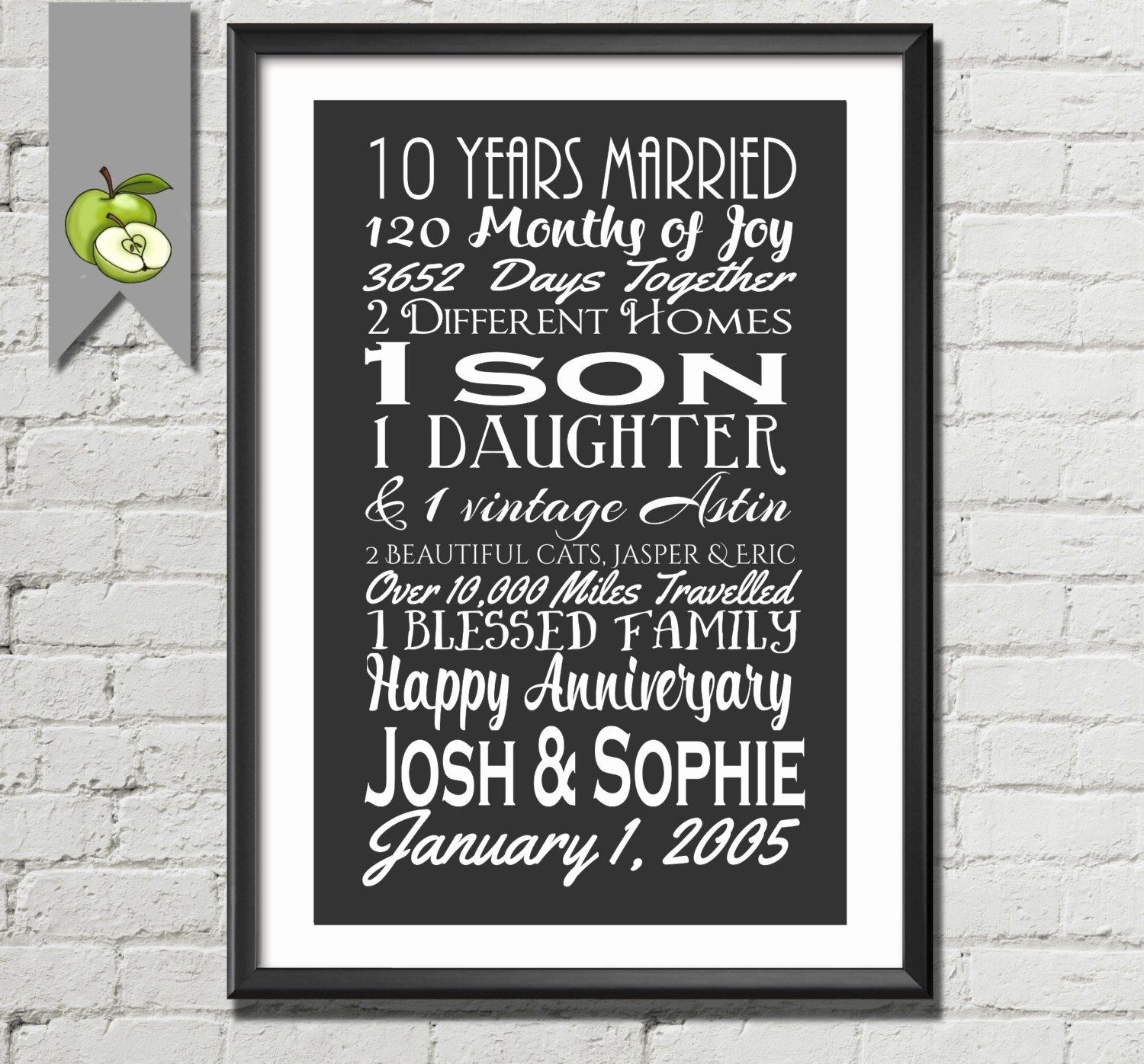 10 Awesome Gift Ideas For 10 Year Anniversary